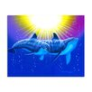 Ready2hangart 'New Dolphins' by David Dunleavy Painting Print on Canvas