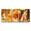Ready2hangart Painted Petals LXV 5 Piece Graphic Art on Wrapped Canvas Set