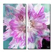Ready2hangart 'Painted Petals XXX' 2 Piece Graphic Art on Wrapped Canvas Set