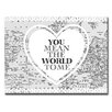 Ready2hangart Valentine's Day 'You Mean the World to Me' Graphic Art on Wrapped Canvas