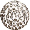 Stratton Home Decor Round Blowing Leaves Wall Décor