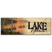 WGI-GALLERY The Lake Lakeland Sunset Painting Print on Wood
