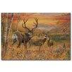 WGI-GALLERY Dream Maker Mule Deer Painting Print on Wood