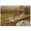 WGI-GALLERY Early Hunter Owl Painting Print on Wood
