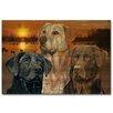 WGI-GALLERY Lab Trio Painting Print on Wood