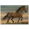 WGI-GALLERY Buckskin Stallion Painting Print on Wood
