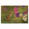 WGI-GALLERY Chipmunk in the Garden Painting Print on Wood