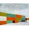 Art Excuse 'Containers' by Regine La Fata Original Painting on Wrapped Canvas