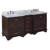 "Kitchen Bath Collection Nantucket 72"" Double Bathroom Vanity Set"