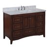 "Kitchen Bath Collection Abbey 48"" Single Bathroom Vanity Set"