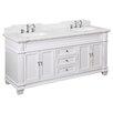 "Kitchen Bath Collection Elizabeth 72"" Double Bathroom Vanity Set"