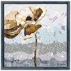 "Empire Art Direct ""Dreamy Poppy Flower B"" Original Handmade Paper Collage Signed by Gianni Framed Graphic Art"