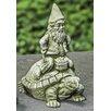 Campania International Gnome Rider Statue
