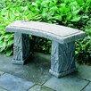 Campania International Dragonfly Curved Cast Stone Garden Bench
