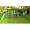 Sportspower Rosemead Metal Slide and Swing Set