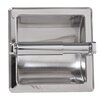 ARISTA Recessed Toilet Paper Holder with Galvanized Mount Plate