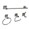 Leonard 4 Piece Wall Mounted Bathroom Hardware Set