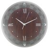 """Artistic Products Frosted Glass 12"""" Wall Clock"""