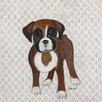 Judith Raye Paintings LLC Puppy Boxer by Judith Raye Painting Print on Canvas