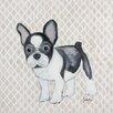 Judith Raye Paintings LLC Puppy French Bulldog by Judith Raye Painting Print on Canvas