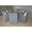 Wicked Wicker Furniture Wonderland 7 Piece Dining Set with Cushions