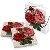 Epic Products Rose Garden Stone Travertine Coaster (Set of 4)
