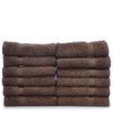 Bare Cotton Luxury Hotel and Spa Towel 100% Genuine Turkish Cotton Wash Cloth (Set of 12)