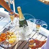 MB Coastal Designs Party Champagne Bucket with Snack Tray and Cup Holder
