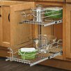 "Rev-A-Shelf 9"" Two-Tier Wire Basket"