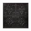 Genesis Antique 2 ft. x 2 ft. PVC Lay-In Ceiling Tile in Black (Set of 12)