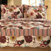 Home Sensation Natural Cotton Reversible 3 Piece Full / Queen Quilt Set