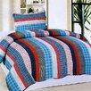 Home Sensation Stripe 2 Piece Twin Quilt Set