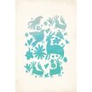 Kindred Sol Collective 'Otomi' by Rebecca Peragine Graphic Art on Wrapped Canvas in Turquoise