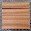 """Vifah Composite Teak 12"""" x 12"""" Deck Tiles (Set of 11)"""