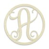 Unfinished Wood Co. Single Letter Circle Monogram Hanging Initial