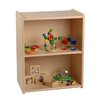 Constructive Playthings Wood Laminate 2 Level Compact Storage Shelf Unit