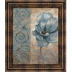 Classy Art Wholesalers Fleur Bleue I by Vivian Flasch Framed Painting Print