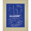 Classy Art Wholesalers Yacht Design by Michael Marcon Framed Graphic Art