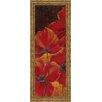 Classy Art Wholesalers Midnight Poppy I by Richard Henson Framed Painting Print