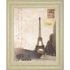 Classy Art Wholesalers Paris Travelogue by Ben James Framed Graphic Art