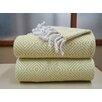 Affinity Linens Elegancia 2 Piece 100% Cotton Diamond Weave Throw Set