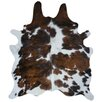 Natural Cowhide Tricolor Area Rug
