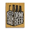 Click Wall Art Keep Calm and Drink Beer Six Pack Graphic Art
