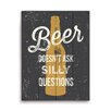Click Wall Art Beer Doesn't Ask Silly Questions Graphic Art
