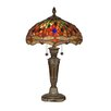 """Dale Tiffany Pearce Dragonfly 24.75"""" H Table Lamp with Bowl Shade"""