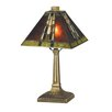 """Dale Tiffany Charwood Mission Accent 14.25"""" H Table Lamp with Empire Shade"""