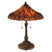 "Dale Tiffany Lotus 24"" H Table Lamp with Bell Shade"