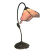 """Dale Tiffany Poelking 21"""" H Table Lamp with Novelty Shade"""