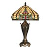 "Dale Tiffany Topaz Baroque 27"" H Table Lamp with Bowl Shade"