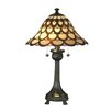 "Dale Tiffany Peacock 24"" H Table Lamp with Bell Shade"
